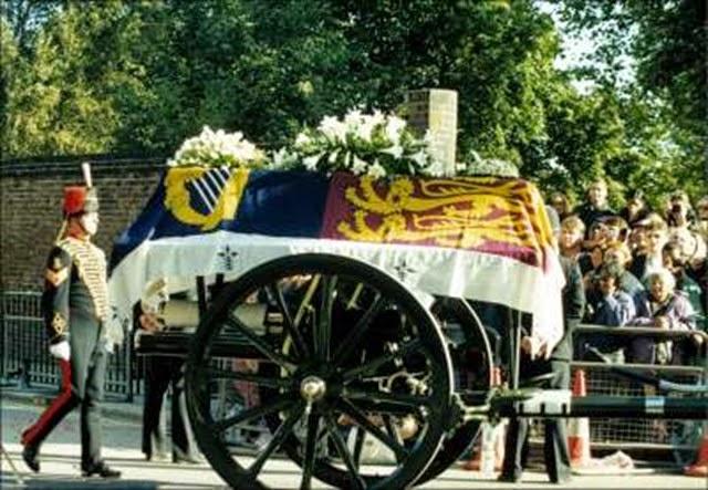 El cortejo funebro de Diana de gales