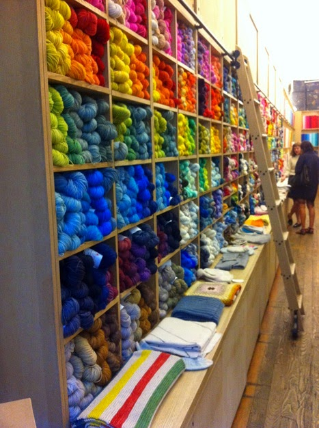 Purl Soho yarn wall