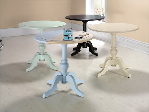 The Igrid Side Table.  Available in sea mint green, carbon black or almond finish -- also available unfinished so you can paint it yourself with Martha Stewart Living paints, available at Home Depot.
