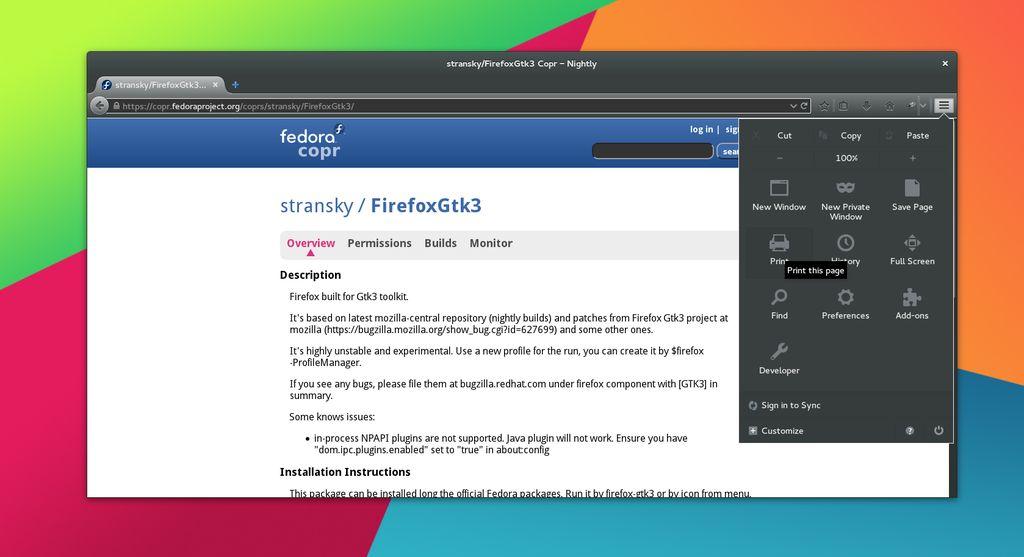 Firefox GTK+3