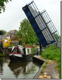 coming through aldermaston lift bridge
