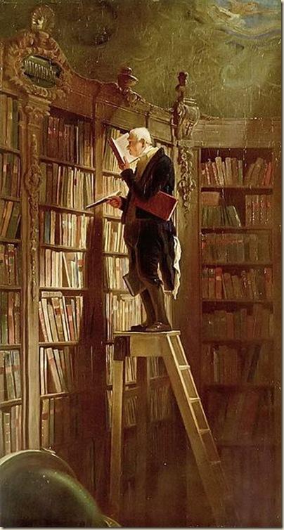 Carl Spitweg,Le rat de bibliothèque