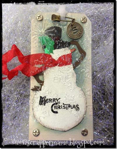 snowman tag 4 w grunge border