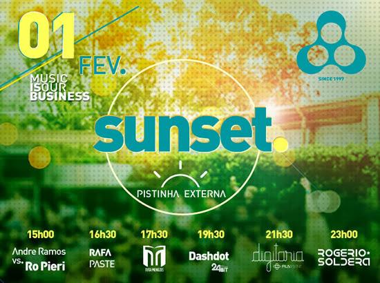 Festa Sunset acontece sábado a tarde, dia 01, na Anzu Club em Itu