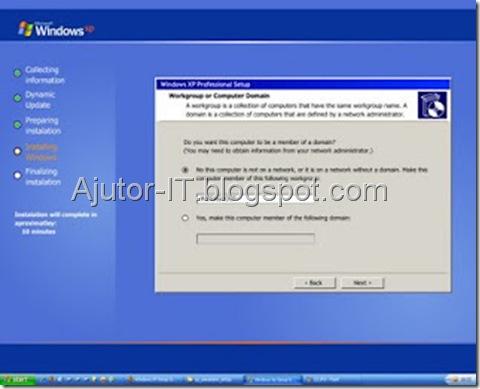 Ghid Instalare Windows XP 13