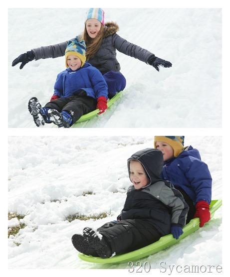 spring sledding