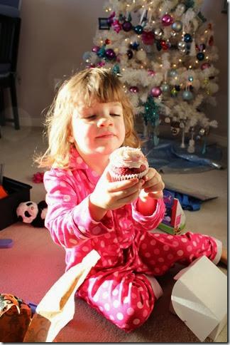 the Christmas cupcake