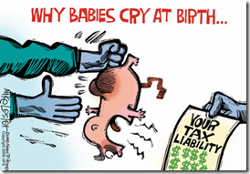 babyborn debt cartoon