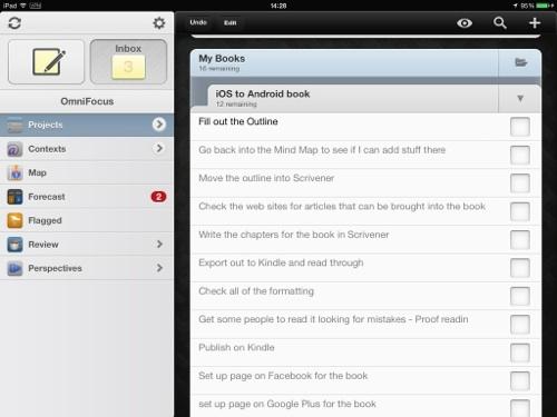 Omnifocus on iPad