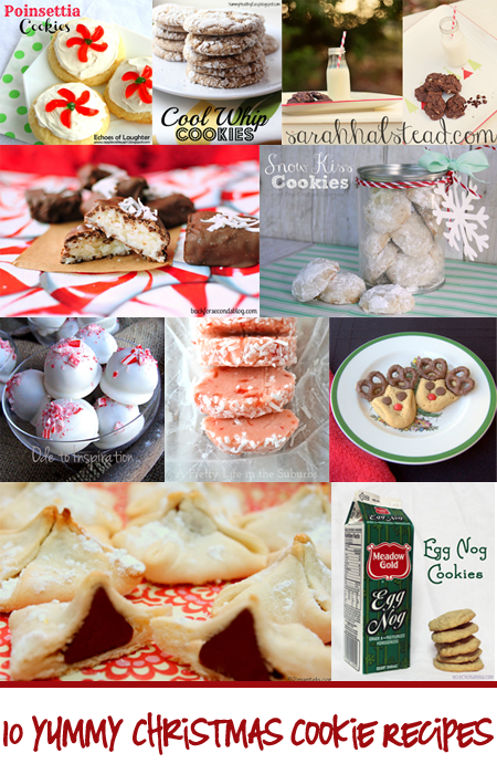 10 Christmas Cookie Recipes by Bloggers - Featured at Poofy Cheeks