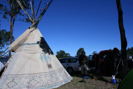 Tipi near our camp