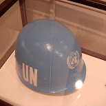 UN blue helmet in New York City, New York, United States