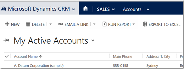 excel crm