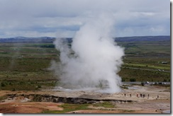 Geysir went off unexpectedly!
