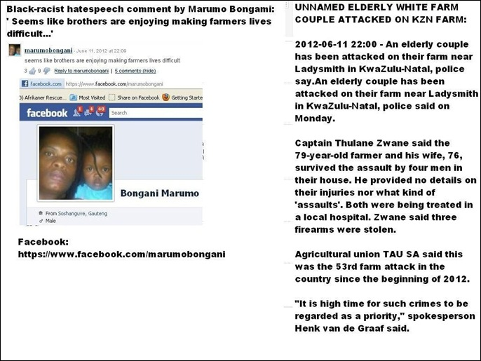 anc hatespeech farmattack old couple June112012 BROTHERS ENJOY MAKING FARMERS LIVES DIFFICULT