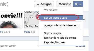 Enviar un toque Facebook