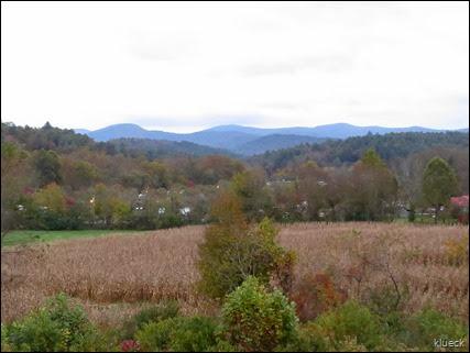 Overlooking Rivers Edge across cornfield