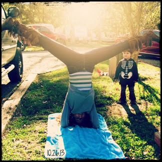 fall headstand splits