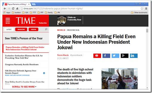 west papua killings