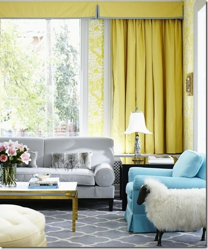 sheep in yellow room via la dolce vita