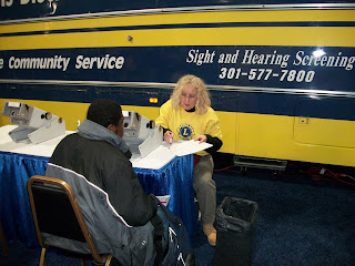 Vision and Hearing Bus at the NBC4 Fitness Expo