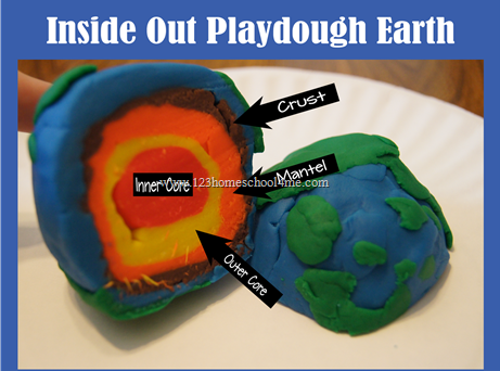 Playdough Earth layers