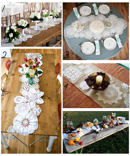 Semplicemente Perfetto Doily Table Runner Idea
