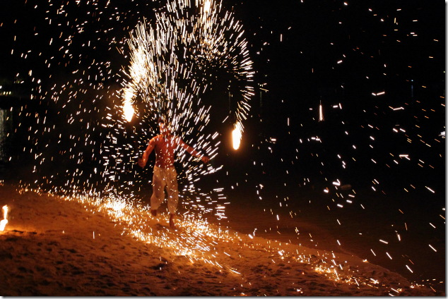 Fire show on the beach of Ko Phi Phi