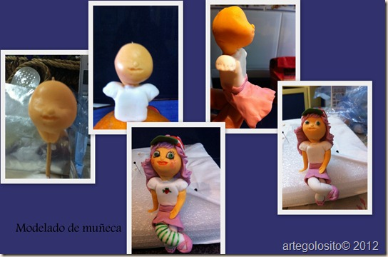 collage modelado muñeca
