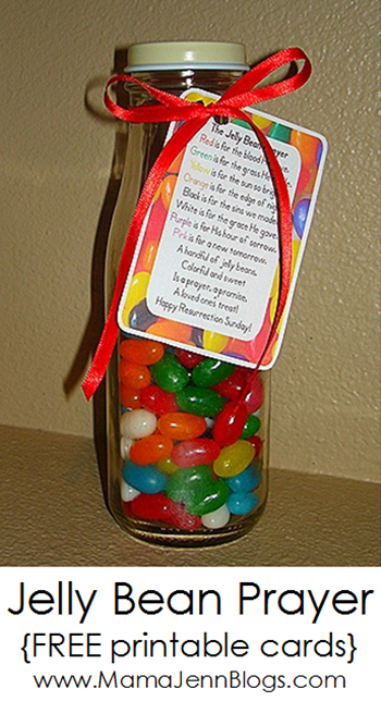 The Jelly Bean Prayer {with FREE printable cards}