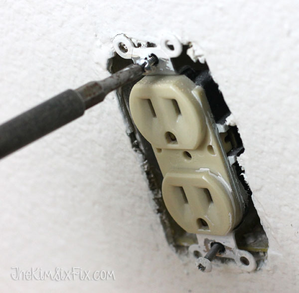 Removing outlet from wall