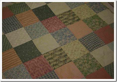 1st quilt closeup