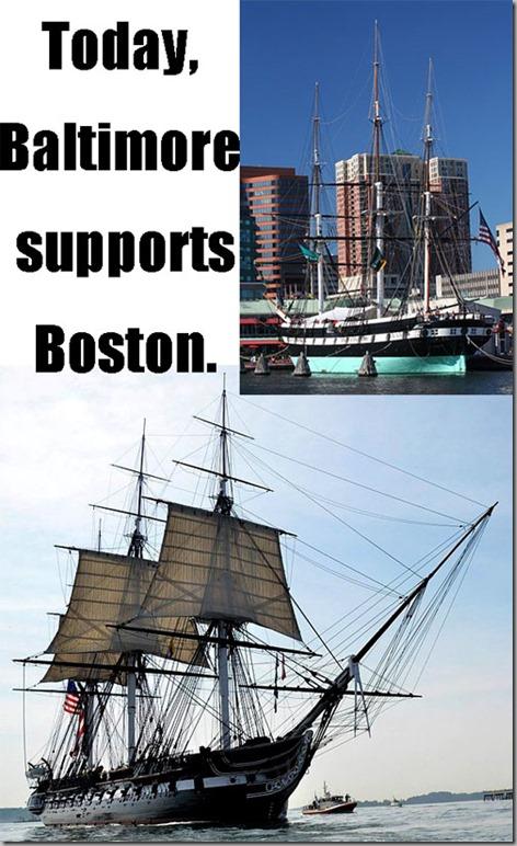 baltimore supports boston