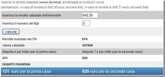 Calcolare IMU online