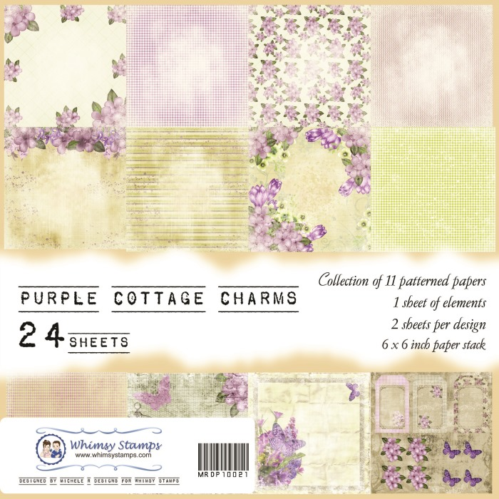 Purple Cottage Charms Front Sheet