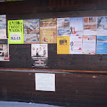 events and flyers in a bus stop in Seefeld, Tirol, Austria