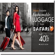 Amazon : Buy Safari Polycarbonate Luggage Suitcase 40% off from Rs. 2760