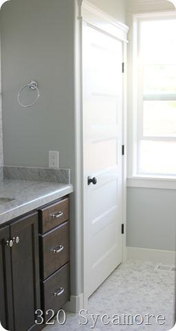 Stunning master bathroom linen closet