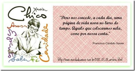 Imagem desenhada de Chico Xavier