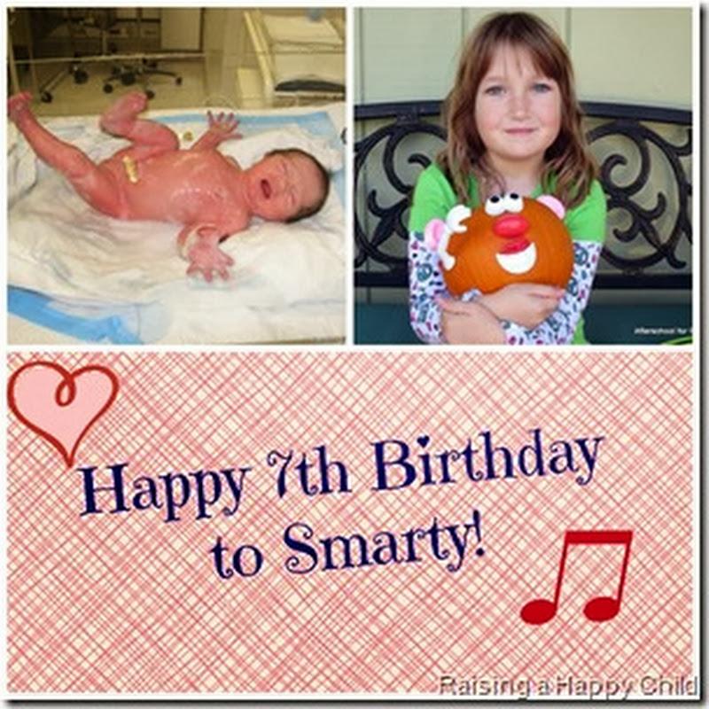 Happy Birthday, My 7 Year Old!