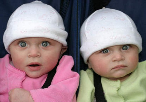 surprised twins