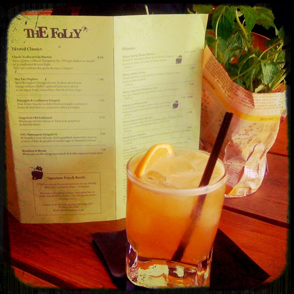 The Folly Bar's Skinny Marmalade Storm