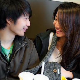 As I look into your eyes by Jason Hoh - People Couples ( sweet, happy, couple, cute, people, friend )