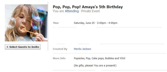 Amaya's birthday party