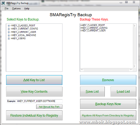 SMARegistry Backup mboir
