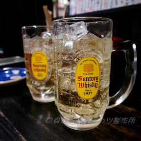 角瓶威士忌高球 @ はなまる串かつ製作所