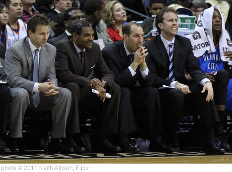 'Oklahoma City Thunder Coaching Staff' photo (c) 2011, Keith Allison - license: https://creativecommons.org/licenses/by-sa/2.0/