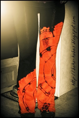 tie-bleached yoga pants