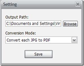 JPG To PDF Setting