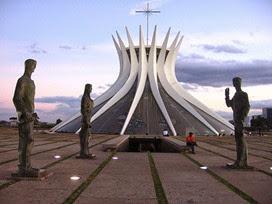 Catedral Metropolitana, ingresso - Oscar Niemeyer, Brasilia